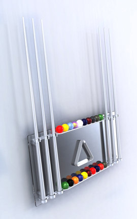Wall Mounted Glass Cue Rack - Elite Innovations